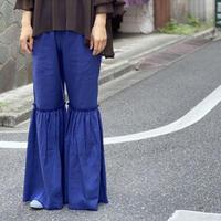 【 UNIONINI 】linen big frill long pants