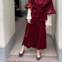 【 HOUGA 】velour petal skirt