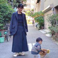 【 daichïogata 】モダンノーフォークジャケット -濃灰-