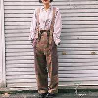 【 MARU TO 】Check work pant (パンツ)