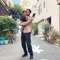 【 melenani 】CHIRTS[チャツ] -for MOM & DAD- (BEIGE FLOWER)