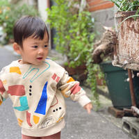 【 barn of monkeys 】PRINTED SWEATSHIRT -Beige-
