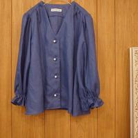 【 RUIMEME 】Gathered Sleeve Linen Blouse