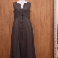 【 RUIMEME 】sleeveless linen dress -dark chocolate-