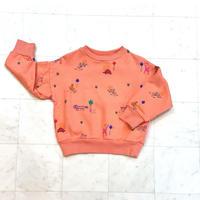 【 barn of monkeys 】PRINTED SWEATSHIRT -Pink-