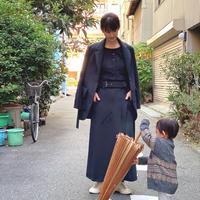 【 daichïogata 】モーターサイクルスカート -濃灰-