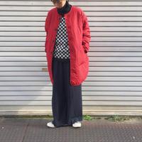 【 OMNIGOD 】Quilt nocollar coat