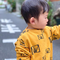 【 barn of monkeys 】PRINTED SWEATSHIRT -Yellow-