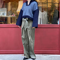 【 Create Clair 】Dobby weave Key neck Knit (トップス)