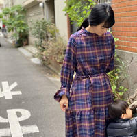 【 Ruimeme 】〈Emma〉palma check dress