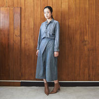 【 OMNIGOD 】Culote Skirt -HICKORY-