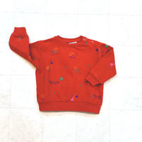 【 barn of monkeys 】BOM SWEAT SHIRT -Red-