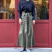【 Create Clair -POP UP- 】Smocking belt mermaid skirt -Khaki-