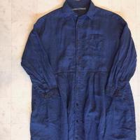 【 OMNIGOD 】Wide work Dress -indigo-