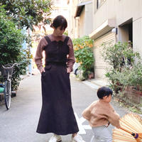 【 daichïogata 】5Pマーメイドスカート -Brown-