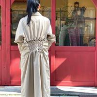 【 Create Clair 】Smocking trench coat (コート)