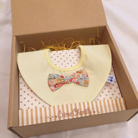 【 Gift box 】ハート型4wayスタイ-Yellow-