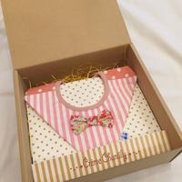 【 Gift box 】ダイヤ型4wayスタイ -Pink-