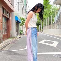 【 Yuumi ARIA 】DENIM DOCKING PANTS -Stripe-