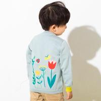 【 ami amie 】お花刺繍カーディガン -80〜90size-