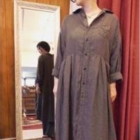 【 OMNIGOD 】Linen wide work Dress