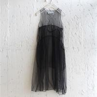 【 UNIONINI 】tulle apron long dress