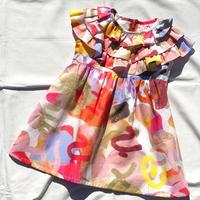 【 melenani 】Big Frill Dress -PINK FRUIT-