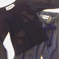 【 UNIONINI 】untied ribbon long sleeve Tee