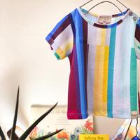 【 Coco au lait 】stripe tee -12M size-