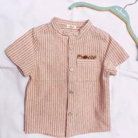 【 melenani 】grandpa shirt -Beige-