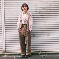 【 MARU TO 】Check work pant