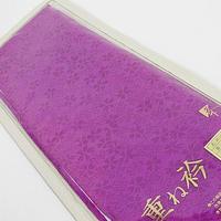 【重ね衿】正絹 広衿/重ね衿 振袖 伊達衿 和装小物 訪問着 振袖☆花紫【美品】
