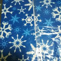 フリース半襟 雪柄 雪結晶柄