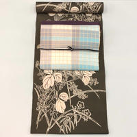 新江戸染め浴衣|侘色の草花|仕立て込み