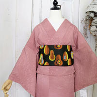 【リサイクル】単衣刺繍色無地 KIA006