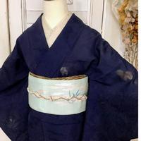 【リサイクル】【夏着物】秋草透かし模様紗の夏着物 KIA153