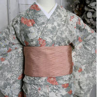 【リサイクル】花模様単衣着物 KIA038