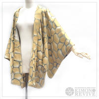 Stone wall pattern haori, ocher #h019