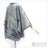 Bamboo pattern SO-SHIBORI haori, indigo/white #h031