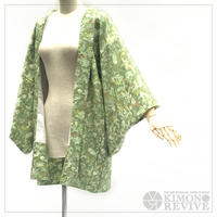 Leaf like pattern haori, green #h018