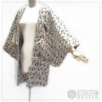 Pebbles pattern MEISEN haori, gray #h002