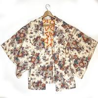 Classic floral pattern haori, off-white #h011