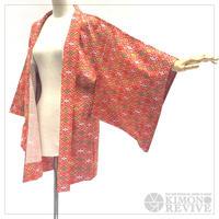 Hanabishi-diamond pattern haori, red #h023