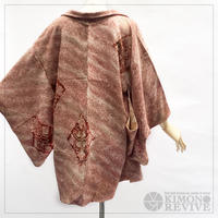Diamond pattern SO-SHIBORI haori, burgundy #h014