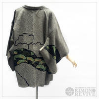 Pine tree pattern SO-SHIBORI haori, black #h016