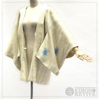 Puddle pattern SO-SHIBORI haori, powder blue #h013