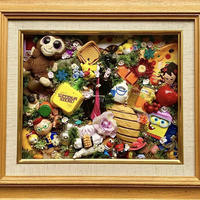 Junk collage art