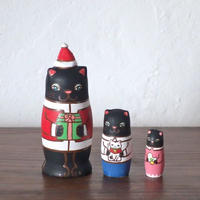 MATRYOSHKA 3sets 猫サンタの贈り物 Cat Santa gift