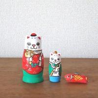 MATRYOSHKA 3sets 大黒恵比寿猫 Daikoku Ebisu cat