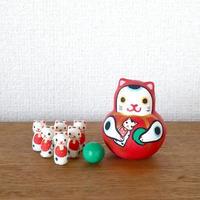 猫だるまボウリング  Cat Dharma Bowling